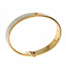 Fendi The Fendista Bicolor Enamel Gold Tone Bracelet M