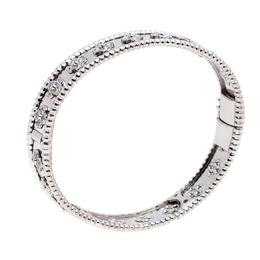 Van Cleef & Arpels Perlee Clovers Diamond 18k White Gold Bracelet M