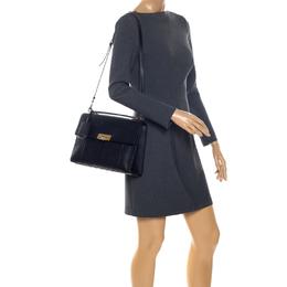 Balenciaga Black Python and Leather Le Dix Cartable Top Handle Bag