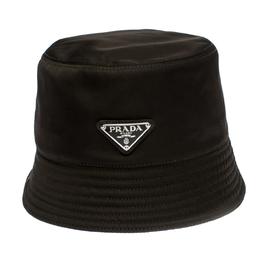 Prada Khaki Green Synthetic Rain Hat Size S