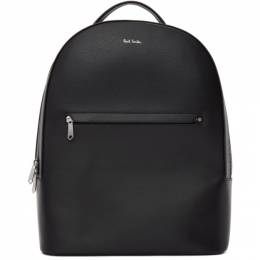 Paul Smith Black Embossed Leather Backpack M1A-5835-A40190