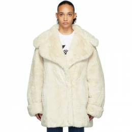 We11Done Off-White Faux Fur Coat WD-F15-19-033-IV
