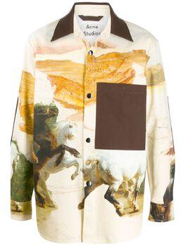 Acne Studios куртка-рубашка с принтом B90274