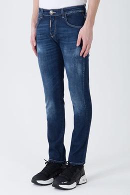 Синие джинсы с потертостями Philipp Plein 1795177846