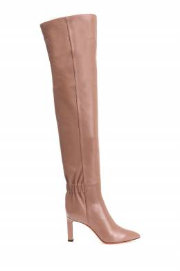 Розовые ботфорты из кожи Santoni 1165177213