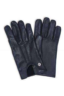 Короткие кожаные перчатки темно-синего цвета Billionaire 1668178458