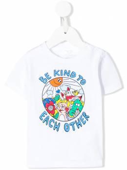 Stella McCartney Kids футболка с принтом Be Kind To Each Other 588361SOJF1
