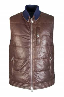 Двусторонний кожаный жилет Brunello Cucinelli 1675179098