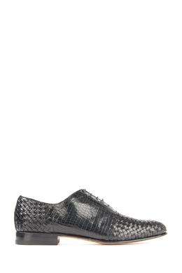 Черные комбинированные туфли Santoni 1165178752