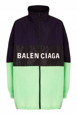 Нейлоновая куртка в дизайне цветными блоками Balenciaga 397116620