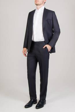 Синий брючный костюм Brioni 1670179636