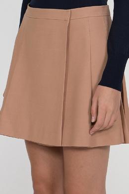 Бежевая расклешенная юбка Valentino 210179410