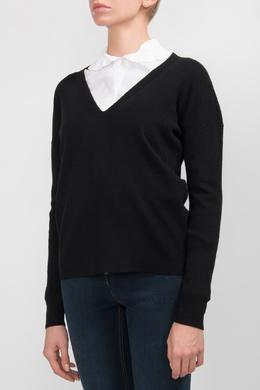 Черный пуловер с вырезом Michael Kors 2137181084