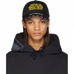 Vetements Black STAR WARS Edition Logo Cap USW21CA044