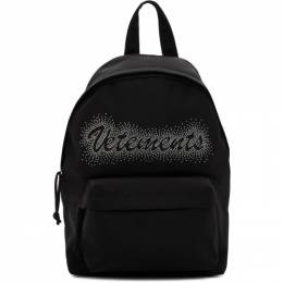 Vetements Black Studded Logo Backpack SS20BA006