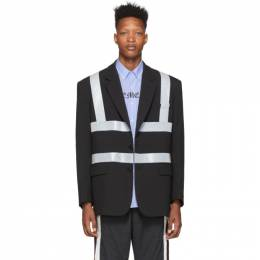 Vetements Black Reflector Tailored Jacket SS20JA239