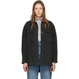 Isabel Marant Etoile Black Wool Garvey Jacket 00MMA0473-00M003E