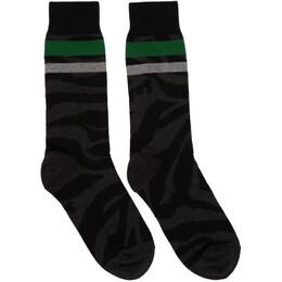 Sacai Black Zebra Socks 20-0064S