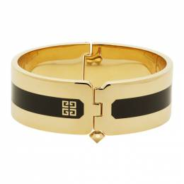 Givenchy Gold and Black Simple Cuff Bracelet BN201PN03X