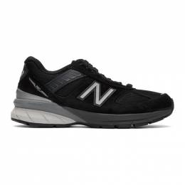 New Balance Black and Grey Made In US 990v5 Sneakers W990BK5