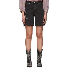 Isabel Marant Etoile Black Denim Cinyab Shorts 20PSH0316-20P019E