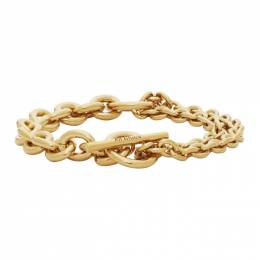 All Blues Gold Polished Double Bracelet 101603