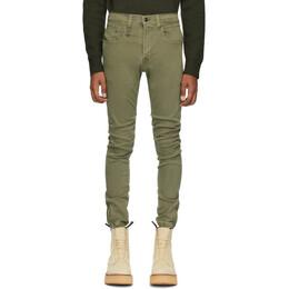R13 Green Denim Cooper Jeans R13M0427-597
