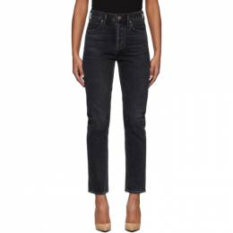 Citizens Of Humanity Black Charlotte High-Rise Straight Jeans 1731-830