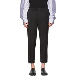 Ami Alexandre Mattiussi Black Wool Cropped Trousers P20HT206.201