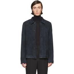 Ami Alexandre Mattiussi Blue Suede Shirt P20HL003.502