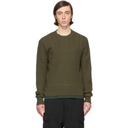 Ami Alexandre Mattiussi Black Merino Chevron Sweater P20HK004.018