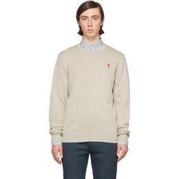 Ami Alexandre Mattiussi Off-White Merino Ami De Coeur Sweater P20HK001.001