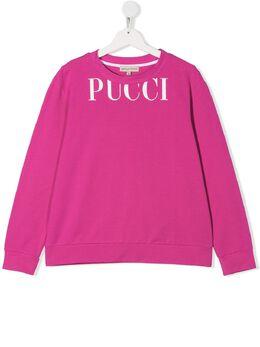 Emilio Pucci Junior свитер с логотипом 9M4000MX180
