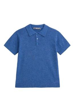 Синее трикотажное поло Bonpoint 1210181860