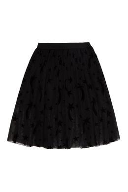 Черная юбка со звездами Stella McCartney 193181579