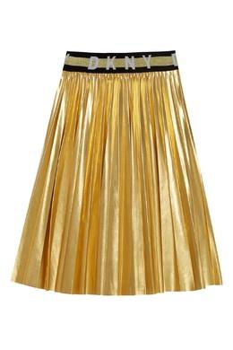 Желтая плиссированная юбка DKNY 1117181608
