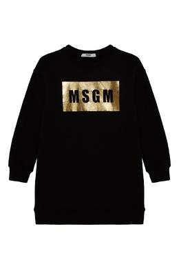 Платье-свитшот черного цвета MSGM 296181647