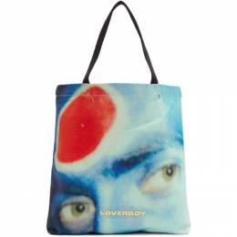 Charles Jeffrey Loverboy Blue and Red Charles Face Tote CJLSS20TB