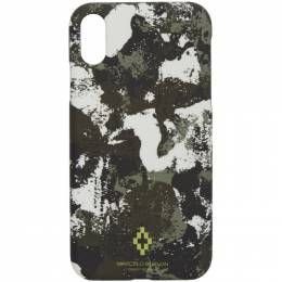 Marcelo Burlon County Of Milan Beige and Green Camo Cross iPhone XR Case CMPA013R20MAT0036159