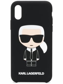 Karl Lagerfeld чехол Karl Ikonik для iPhone X/Xs KL19FKBX999