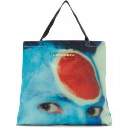 Charles Jeffrey Loverboy Blue and Red Charles Face Tote CJLSS20LTB