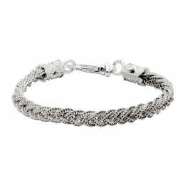 Emanuele Bicocchi Silver Braided Bracelet RLCB3W