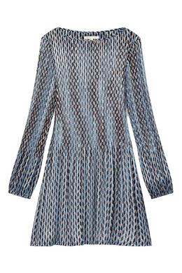 Плиссированное платье мини с графичным принтом Maje 888182069