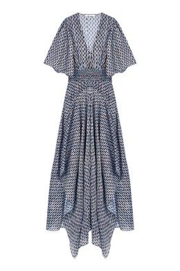 Платье с асимметричным подолом и мелким принтом Maje 888182075