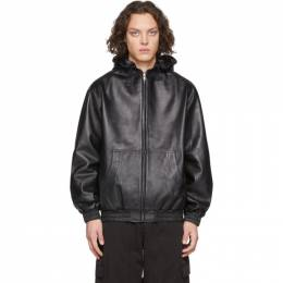 Random Identities Black Leather Jacket LT-01