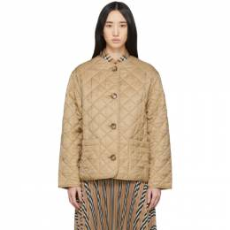 Burberry Beige Quilted Bardsey Jacket 8022813