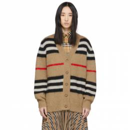 Burberry Beige Mohair Striped Cardigan 8027814
