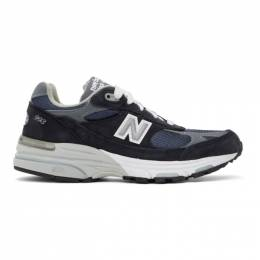 New Balance Navy and Grey US Made 993 Sneakers WR993NV