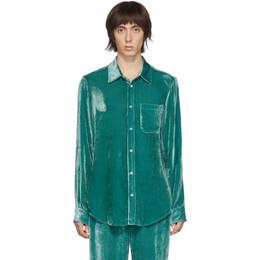 Sies Marjan Green Velvet Cord Shirt M7FC301-FLIPPER
