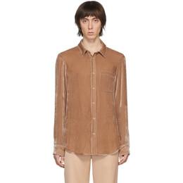 Sies Marjan Tan Velvet Cord Shirt M7FC301-FLIPPER